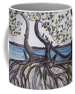Coffee Mug featuring the painting Mangroves by Joan Stratton