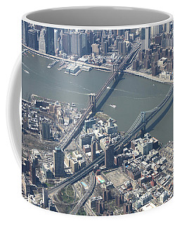 Manhattan And Brooklyn Bridge Coffee Mug by Suhas Tavkar