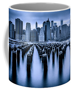 Coffee Mug featuring the photograph Manhattan Blues by Chris Lord