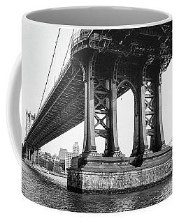 Coffee Mug featuring the photograph Manhattan Bridge, Afternoon by Gary Heller