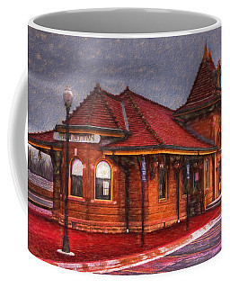 Manhattan Kansas Train Depot Coffee Mug