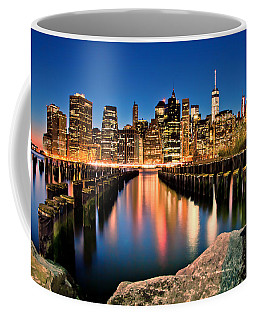 Manhattan Skyline At Dusk Coffee Mug