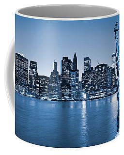 Manhattan Skyline Coffee Mug by Luciano Mortula