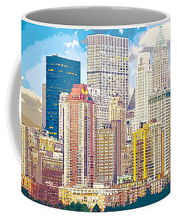 Manhattan Skyline New York City Coffee Mug