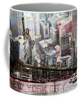 Coffee Mug featuring the photograph Manhatten From Above by Hannes Cmarits