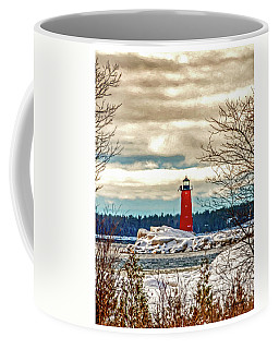 Coffee Mug featuring the photograph Manistique Lighthouse by Trey Foerster