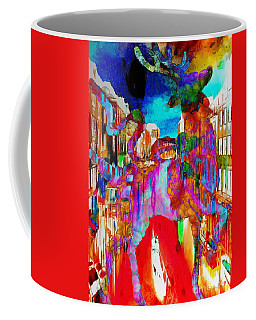 Coffee Mug featuring the painting Mankey Painted Reindeer In Italy  by Catherine Lott