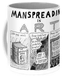 Manspreading In Art Coffee Mug