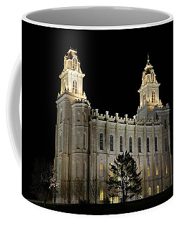 Manti Temple Night Coffee Mug