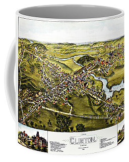 Map Of Clinton Connecticut 1881 Coffee Mug