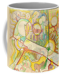 Map Of Imaginary City Coffee Mug