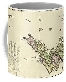 Map Of Saint Barts 1801 Coffee Mug