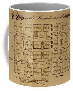 Map Of Savannah 1761 Coffee Mug