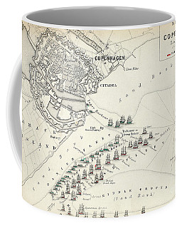 Map Of The Battle Of Copenhagen Coffee Mug