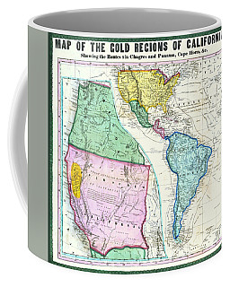 Map Of The Gold Regions Of California Coffee Mug