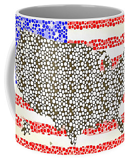 Map Of The United States Of America Pop Art Coffee Mug