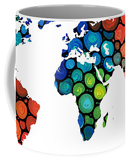 Map Of The World 1 -colorful Abstract Art Coffee Mug