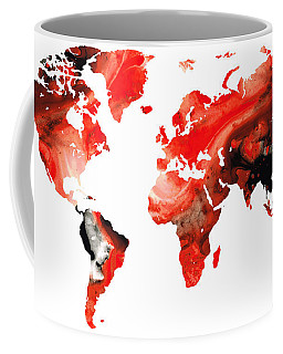Map Of The World 10 -colorful Abstract Art Coffee Mug