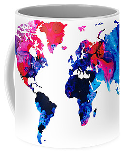 Map Of The World 9 -colorful Abstract Art Coffee Mug