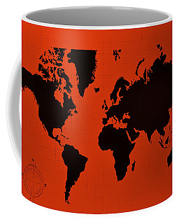 Coffee Mug featuring the photograph Map Of The World Copper by Rob Hans