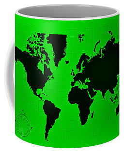 Coffee Mug featuring the photograph Map Of The World Green by Rob Hans