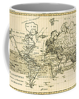 Map Of The World Using The Mercator Projection Coffee Mug