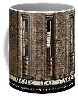 Coffee Mug featuring the photograph Maple Leaf Gardens by Brian Carson