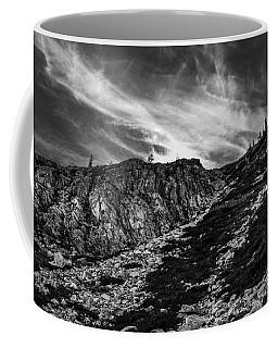 Maple Pass Loop Rocks Black And White Coffee Mug
