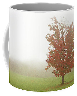 Coffee Mug featuring the photograph Maple Tree In Fog With Fall Colors  by Brooke T Ryan