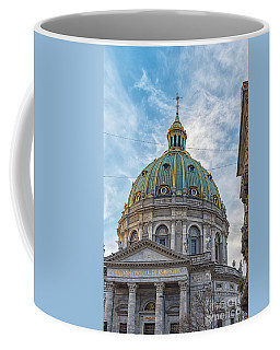 Coffee Mug featuring the photograph Marble Church In Copenhagen by Antony McAulay