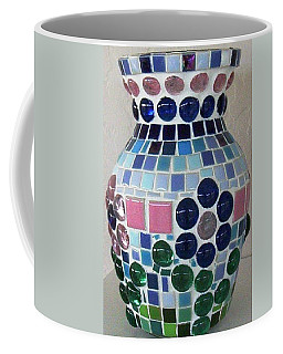 Coffee Mug featuring the glass art Marble Vase by Jamie Frier