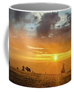 Coffee Mug featuring the photograph Marble View Sunrays by Gaelyn Olmsted