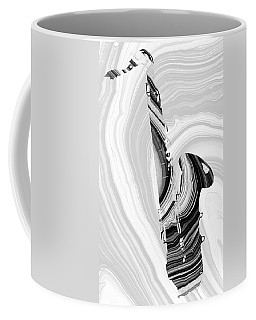 Marbled Music Art - Saxophone - Sharon Cummings Coffee Mug