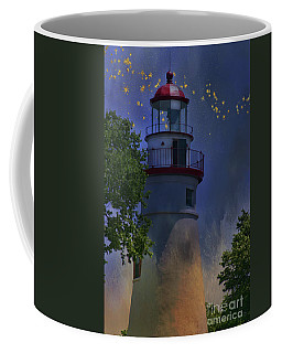 Coffee Mug featuring the photograph Marblehead In Starlight by Joan Bertucci