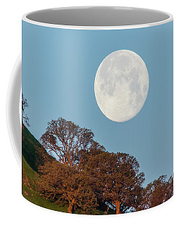 Coffee Mug featuring the photograph March Moonset by Marc Crumpler