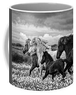 Coffee Mug featuring the photograph March Of The Mares by Joan Davis