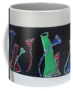 Coffee Mug featuring the painting March Of The Wine Brigade by Sharyn Winters