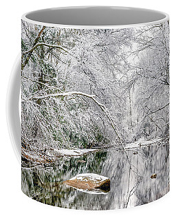 March Snow Along Cranberry River Coffee Mug