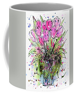 March Tulips Coffee Mug by Zaira Dzhaubaeva