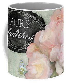 Coffee Mug featuring the painting Marche Aux Fleurs 2 - Peonies N Hydrangeas by Audrey Jeanne Roberts