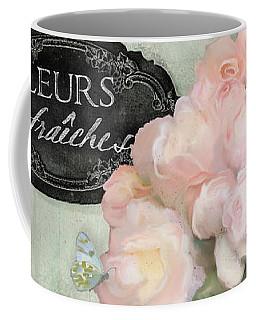 Marche Aux Fleurs 2 - Peonies N Hydrangeas Coffee Mug by Audrey Jeanne Roberts