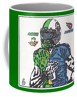 Marcus Mariota Crossover Coffee Mug by Jeremiah Colley