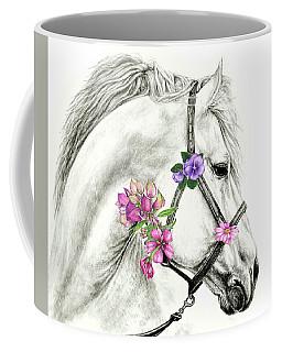 Mare With Flowers Coffee Mug