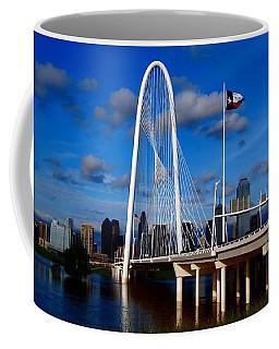 Margaret Hunt Hill Bridge Dallas Flood Coffee Mug by Kathy Churchman