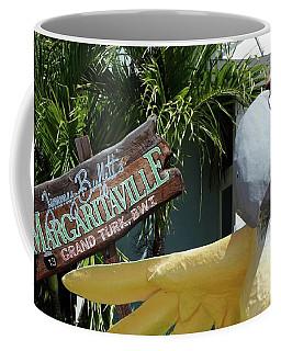 Coffee Mug featuring the photograph Margaritaville Sign Turks And Caicos by Melinda Saminski