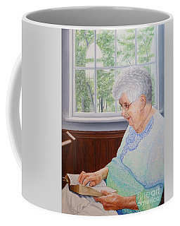 Coffee Mug featuring the painting Margret Lawson by Mike Ivey
