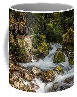 Coffee Mug featuring the photograph Marian Cascade New Zealand by Joan Carroll
