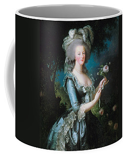Marie-antoinette With The Rose Coffee Mug