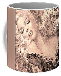 Marilyn Cherry Blossom, B Sepia Coffee Mug
