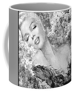 Marilyn Cherry Blossom Bw Coffee Mug